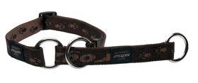 Rogz Extra-Large Alpinist Everest Web Half-Check Dog Collar - 25mm Chocolate