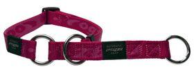 Rogz Extra-Large Alpinist Everest Web Half-Check Dog Collar - 25mm Pink