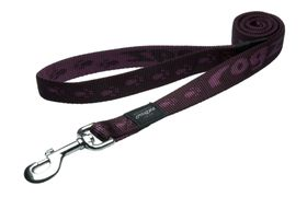 Rogz Extra-Large Alpinist Everest Fixed Dog Lead - 25mm Purple