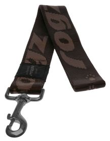 Rogz - Alpinist Big Foot Fixed Dog Lead - 2 x Extra-Large - Chocolate