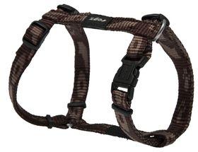 Rogz Small Alpinist Kilimanjaro Dog H-Harness - 11mm Chocolate