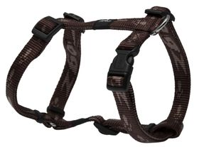 Rogz Medium Alpinist Matterhorn Dog H-Harness - 16mm Chocolate