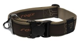 Rogz Fancy Dress Special Agent Dog Collar Extra Extra Large - 40mm Bronze Bone