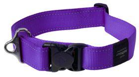 Rogz - Utility Landing Strip Dog Collar - 2 x Extra-Large 4cm - Purple Reflective