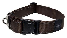 Rogz Utility Landing Strip Dog Collar Extra Extra Large - 40mm Chocolate Reflective