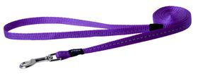 Rogz Utility Nitelife Fixed Dog Lead Small - 11mm Purple Reflective