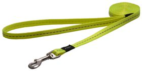 Rogz Utility Nitelife Fixed Dog Lead Small - 11mm Yellow Reflective