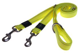 Rogz Utility Lumberjack Multi-Purpose Dog Lead Extra Large - 25mm Yellow Reflective