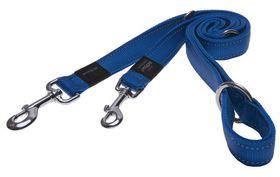 Rogz - Utility Fanbelt Multi-Purpose Dog Lead - Large 2cm - Blue Reflective