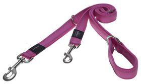 Rogz - Utility Fanbelt Multi-Purpose Dog Lead - Large 2cm - Pink Reflective