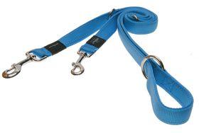 Rogz - Utility Snake Multi-Purpose Dog Lead - Medium 1.6cm - Turquoise Reflective