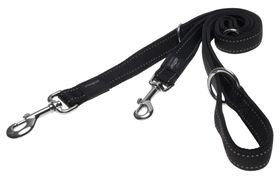 Rogz Utility Nitelife Multi-Purpose Dog Lead Small - 11mm Black Reflective