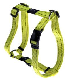 Rogz Utility Lumberjack Dog H-Harness Extra Large - 25mm Yellow Reflective