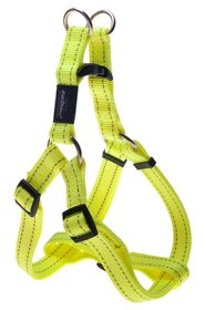 Rogz Utility Fanbelt Step-in Dog Harness Large - 20mm Yellow Reflective