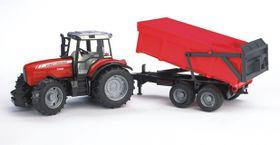 Bruder Massey Ferguson Tractor with Dumping Trailer - 7480