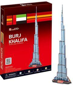Cubic Fun Burj Khalifa Dubai - 91 Piece 3D Puzzle