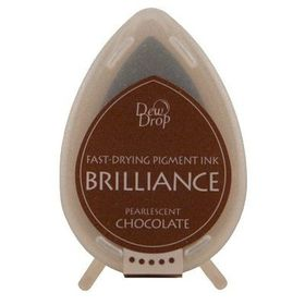 Tsukineko Brilliance Dew Drop Ink Pad - Pearlescent Chocolate