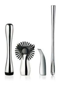 Nuance - Stainless Steel Bar Accessories Set - Silver