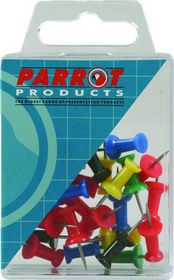 Parrot Thumbtacks - Red - Pack of 25
