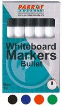 Parrot Whiteboard Marker Bullet Tip - Dark Blue (Box of 10)