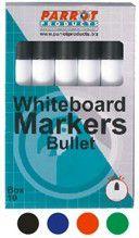 Parrot Whiteboard Marker Bullet Tip - Green (Box of 10)