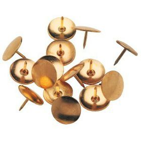 Parrot 100 Pack Drawing Pins - Brass