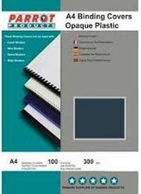 Parrot A4 Opaque 300 Micron Binding Cover - Grey