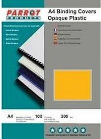 Parrot A4 Opaque 300 Micron Binding Cover  - Yellow