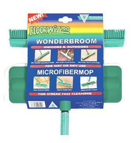 Floorwiz - Microfiber & Wonder-broom Combo - Green
