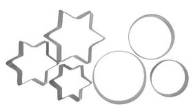 Anzo - Inspire Cookie Cutters Star and Round 6 Piece