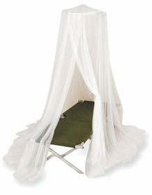 LeisureQuip - Queen Impregnated Mosquito Net - White