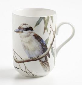 Maxwell and Williams - Kookaburras Decal Mug - 300ml - White
