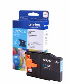 Brother LC77XLC High Yield Cyan Ink Cartridge