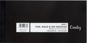 Croxley JD601 Time Wage & Pay  Register (Pack of 5)