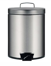 Brabantia - Pedal Bin With Inner Plastic Bucket - 5 Litre - Brilliant Steel