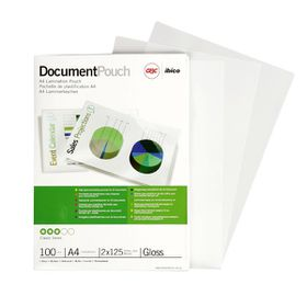 GBC Document Gloss Laminating Pouches - A4 150micron (100 Pack)