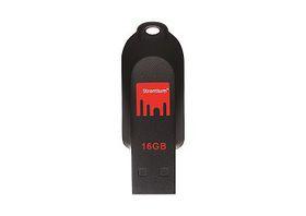 Strontium 16GB Pollex Flash Drive - Black