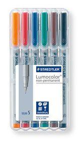 Staedtler Lumocolor 6 Non-Permanent Superfine Markers