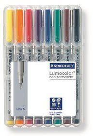 Staedtler Lumocolor 8 Non-Permanent Superfine Markers
