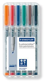 Staedtler Lumocolor 6 Non-Permanent Broad Markers