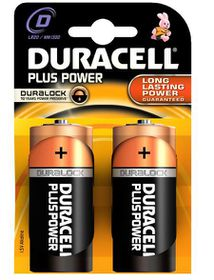 Duracell Plus Power D Alkaline Batteries