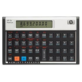 HP 12C Platinum Financial Calculator (Algebraic or RPN)