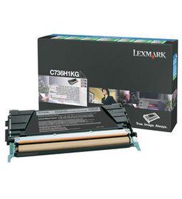 Lexmark C736, X736, X738 Black High Yield Return Programme Toner Cartridge, 12K