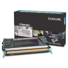 Lexmark C746, C748 Black High Yield Return Program Toner Cartridge