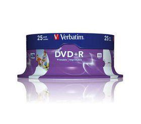 VERBATIM - 4.7GB DVD+R (16X) - PRINTABLE, SPINDLE (PACK OF 25)