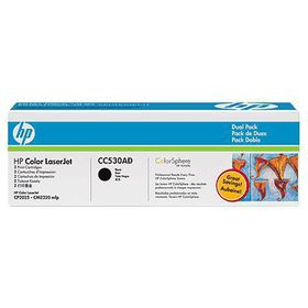 HP 304A Color LaserJet Black Cartridge - Dual Pack