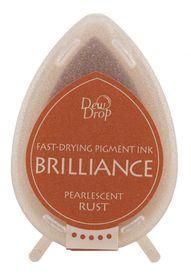 Tsukineko Brilliance Dew Drop Ink Pad - Pearlescent Rust