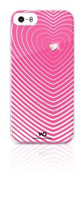 Apple iPhone 5 & 5s White Diamond Heartbeat Cover - Pink