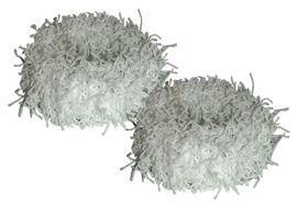 Chic Fuzzy Schrunchie 2 Pack - White
