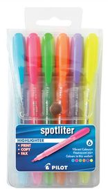 Pilot Spotliter Highlighters - Wallet of 6 Colours